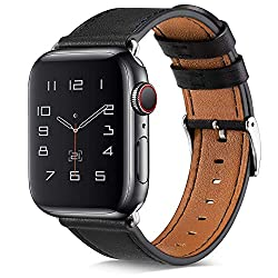 Apple Watch Reviews – Apple Watch Series 3 Review - Apple Watch Band, COVERY 42MM iWatch Band Genuine Leather Strap