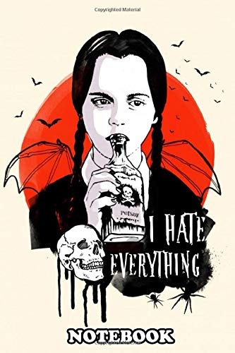Notebook: Wednesday The Addams Family Art Movie Inspired , Journal for Writing, College Ruled Size 6
