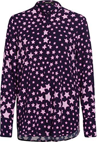 Marc Aurel blouse met lange mouwen hemdkraag sterren allover print blauw/roze