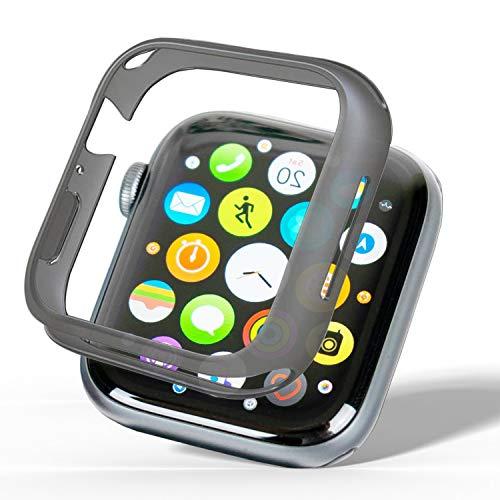CELLBEE Case kompatibel mit Apple Watch Series 4 44mm, Extrem Dünne Elegante Hülle Bumper für Smartwatch, Minimalistisch Design Hardcase Schutzhülle gegen Kratzer - Grau