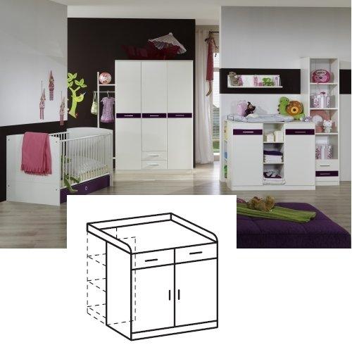 Wimex Wickelkommode Gina, 2 Türen, (B/H/T) 107 x 71 x 107 cm, Weiß