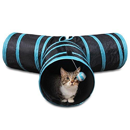 GreeSuit猫トンネル猫おもちゃ3通キャットトンネルペット玩具折りたたみ式