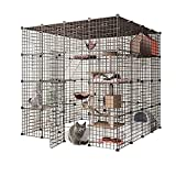 Jaula para gatos grande para mascotas Parque de juegos de interior para gatos y perros, jaula de animales pequeños, para cobayas, conejitos y chinchilla para gatos de 1 a 4