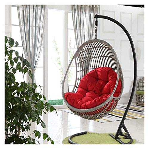 XiYou Hanging Basket Egg Chair Cushions Swing Seat Cushion, Thicken Hanging Egg Hammock Chair Pads Waterproof Chair Seat Cushioning for Patio Garden