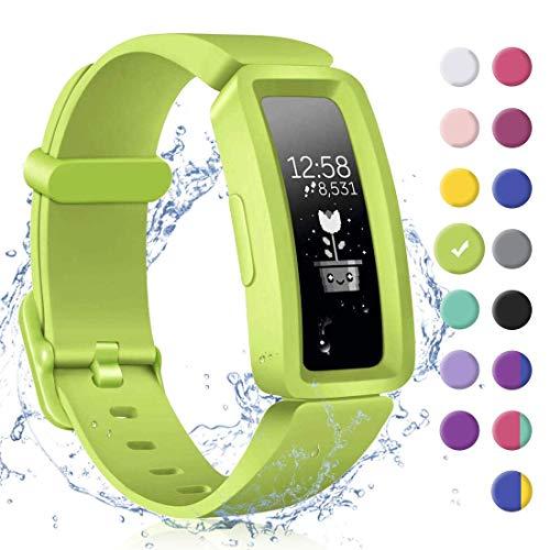 KarleDeal - Correa compatible con Fitbit Ace 2 para niños 6+, silicona suave resistente al agua accesorios de pulsera, bandas deportivas coloridas pulseras para Fitbit Inspire HR y Ace 2 niños niñas