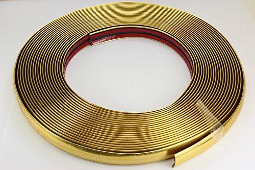 GOLD Chrom Zierleiste 20mm x 15m selbstklebend universal Auto Goldleiste Kontur