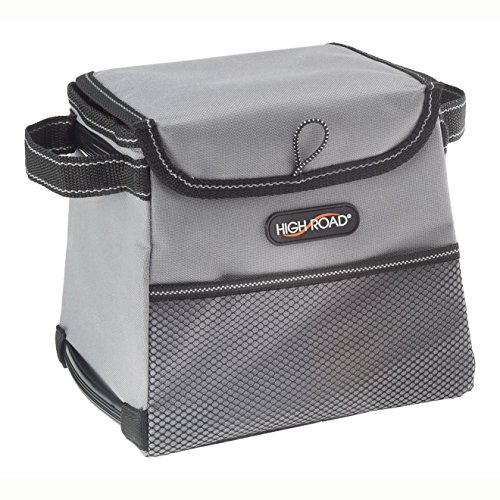 High Road StableMate Car Trash Bin with Leakproof Lining and Lid (Small, Gray)
