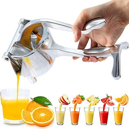 Track India Aluminum Steel Manual Fruit Juicer Hand juicer, Instant Vegetable & Fruit Mixer Orange, Watermelon, Lemon Squeezer, Hand Press Juice Machine for Home