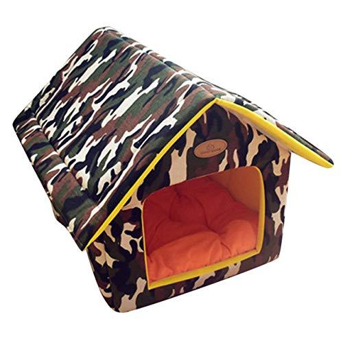 Kennel LKU Zacht warm huisdier kennel thuis draagbaar binnen buiten verwijderbaar klein hondenhok, A, 35X30cm