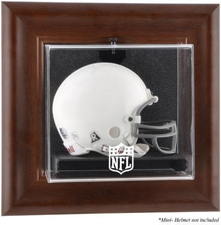 Luxury NFL Brown Framed Wall-Mountable Logo Mini Case Display Kansas City Mall Helmet -