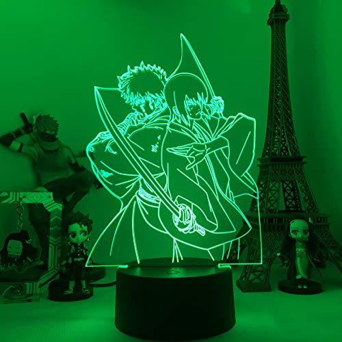 GINTAMA - Lámpara de ilusión óptica 3D con mando a distancia, 7 colores cambiantes de fútbol, cumpleaños, Navidad, día de San Valentín, regalo para niños y niñas