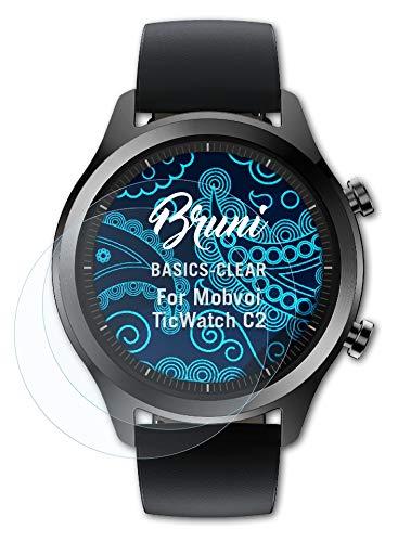 Bruni Schutzfolie kompatibel mit Mobvoi TicWatch C2 Folie, glasklare Bildschirmschutzfolie (2X)
