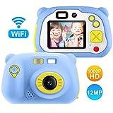 Appareil Photo pour Enfant, avec Carte TF 16 Go, Caméra Selfie Rechargeable Numérique pour Enfants, Ecran à 2 Pouces,Objectif...