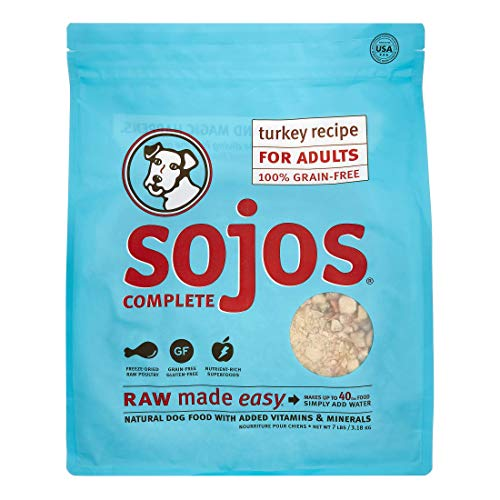 Sojos Complete Natural Raw Freeze Dried Dog Food Mix