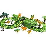 Feleph Pista de Dinosaurios Juguetes, Circuito Pista de Coches para Niños 3 4 5 6 7 Años, Juego...