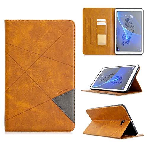ZHIWEI Tablet PC Tasche Vertikale prismatischer Tablet Fall geeignet for Samsung T580 Fall.Erweitern PU-Leder-Kasten mit automatischer Weck- / Schlaf-Funktion [mit Karten-Slot] (Color : Yellow)