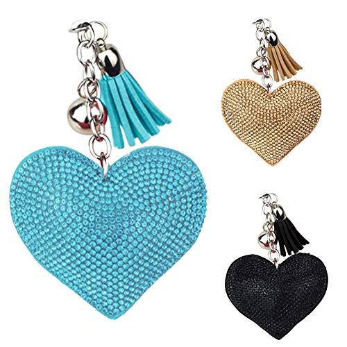 XdiseD9Xsmao hanger van fluweel van kunstleer model A hart met liefde sleutelhanger voor auto sleutelhanger duurzaam licht tasje om op te hangen ornament