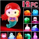 badewannenspielzeug badespielzeug baby junge mädchen jungs kinder kleinkinder leuchtend pool tiere badewanne babys rosa schwimmend wasserdicht wasserspielzeug spielzeuge bade party schwimmlicht