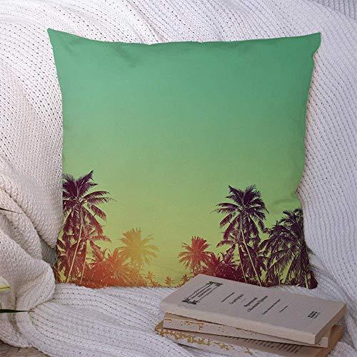 N\A Fundas de Almohada Decorativas para sofá Cama Sofá Azul Belleza Playa Tropical Verano Sin Palmeras Naturaleza Abstracta Rojo Beverly Tree Hills California Funda de cojín Suave