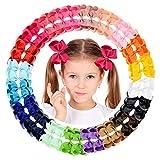 40 lazos de grogrén para niñas y bebés, accesorios para el pelo con pinzas antideslizantes