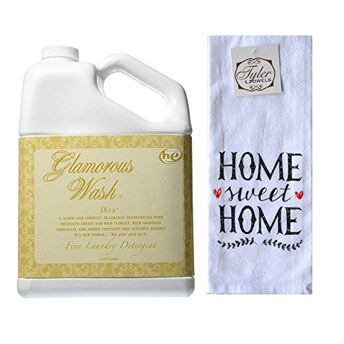 Designs by Ellis Tyler Candle Co. Diva Glamorous Wash Bundled with Tyler Towels Home Sweet Home Hand Towel (Gallon)