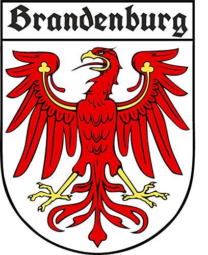 Etaia 7,5x10 cm Auto Aufkleber Brandenburg Wappen mit Adler altdeutsche Schrift Sticker Motorrad deutsche Bundesländer