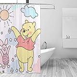 Winnie The Pooh Duschvorhang Liner Wasserdichter Polyester Stoff Bad Duschvorhänge Stoff Duschvorhang 12 Haken 60 x 72 Zoll