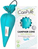 FIRST OF ITS KIND!: CamPure Camphor Cone is dual purpose - it fills the air around you with delightful, fresh scent, AND in some situations its insect repelling properties can help keep mosquitoes away (or put it in your closet to help protect your c...
