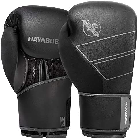 Hayabusa S4 Leather Boxing Gloves for Men Women Black 12oz product image
