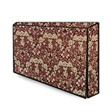 The Furnishing Tree Waterproof LED TV Cover for All 24 Inch Models Floral Pattern Beige