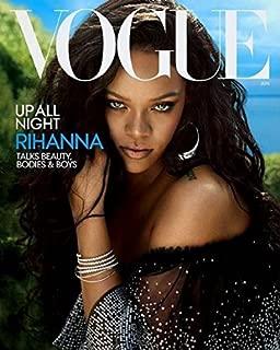 Vogue US Magazine June 2018 Issue Cover :- Rihanna + Magazine Cafe Bookmark