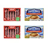 Candy Cane Spoons And Hot Chocolate Mix Bundle 12 Count
