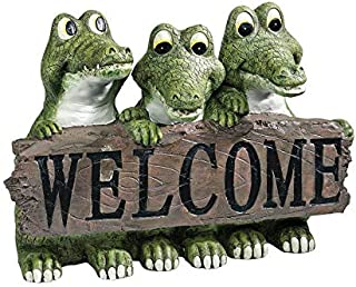 Design Toscano Ragin' Cajun Crocodile Welcome Statue