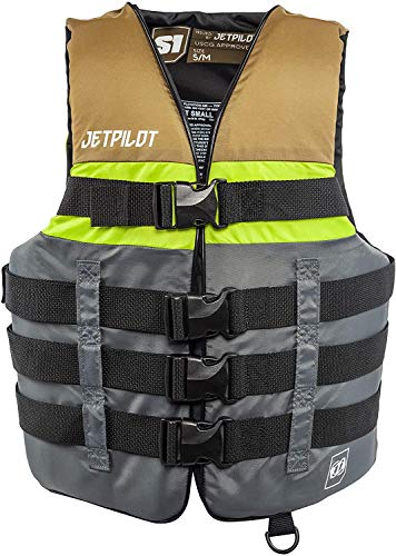 Jet Pilot S1 Nylon CGA Vest - XS-Green Adult Water Life Jacket Vest for Extreme Sports Boat Kayak Paddling Use and Safety Sports Vests for Men and Women