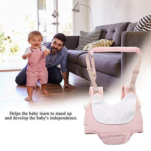 Producto para bebés, Algodón suave Asistente para caminar para bebés Cómodo transpirable Ajustable por 6-36 meses para bebé Arnés para caminar para uso(Cherry blossom powder)