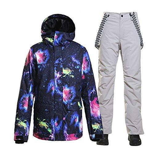 JSYDTX Herren Schnee Anzug Outdoor Sport Kostüm Ski Wear wasserdicht Winddicht Snowboard Sets Anoraks und Lätzchen Hosen Jacken Warmer Wintermantel Berg Windjacke Hoode (Farbe : 5, Size : M)