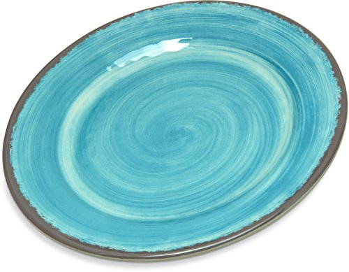 Carlisle 5400715 Mingle Melamine Bread & Butter Plate, 7', Aqua (Set of 12)