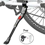 ZFYQ Pata de Cabra para Bicicleta, Aluminio Soporte Ajustable del Retroceso de Bici Caballete Bicicleta con Llave...