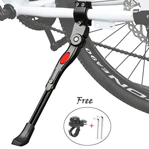 """Cavalletto Bici, Regolabile Alta qualità Alluminio Lega Cavalletto laterale per 24""""-27"""" mountain bike, bici da strada, biciclette, MTB Bici"""