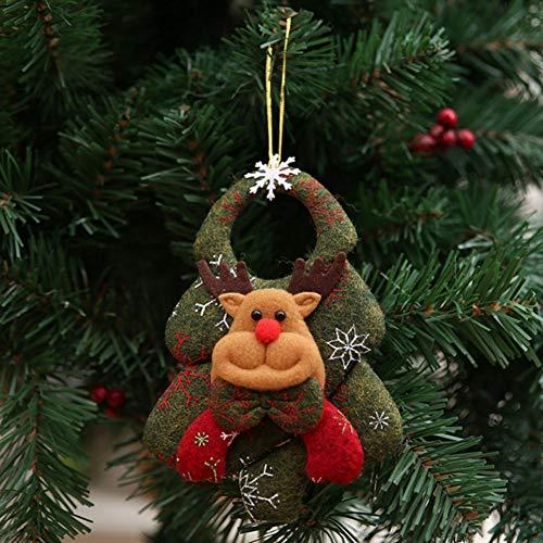 Martialart Adorno Muñeco Santa/Muñeco de Nieve/Alce/Oso Adornos para árboles de Navidad Árbol de Navidad Colgante Colgante Regalo Adornos navideños