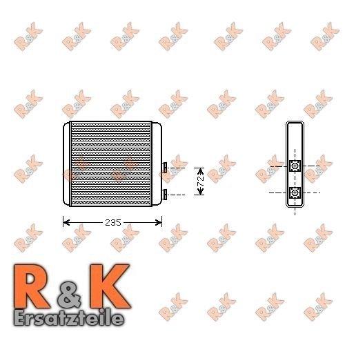 Prasco ol6321intercambiador de calor radiador/in-door calefacción