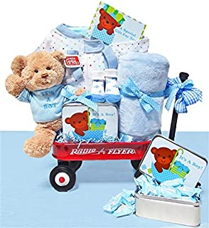 Personalized It's A Boy Wagon by Baby Gift Basket