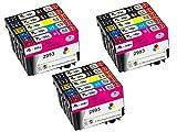 AA+inks 29 XL Sostituzione per Epson 29 29XL Cartucce inchiostro Compatibile con Epson XP-342 XP-245 XP-255 XP-247 XP-442 XP-345 XP-445 XP-235 XP-432 XP-332 6 Nero,3 Ciano,3 Magenta,3 Giallo