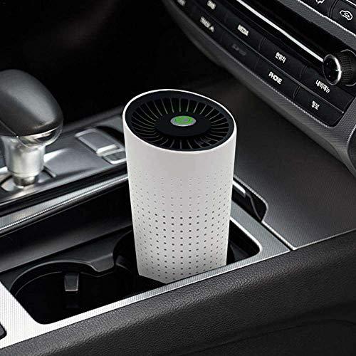 KAIWM Auto Luftreiniger Lufterfrischer Fahrzeug Ionen 7-in-1 Echte HEPA-Filter 0,1 Micron Luftfilter Quality Monitor für Entfernt Staub Pollen Rauch Geruch,Weiß