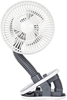 Diono Stroller Fan, Clip-On Portable Cooling Fan for Child Comfort, Grey