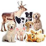 Personalisiertes 3D Haustier Hund Katze Kissen FOTOGESCHENK mit eigenem Foto (50 x 35 cm) Foto-Kissen Bedrucken Zum Jahrestag, Geburtstag, Valentinstag (mit Füllung) 3D Tierkissen [091]