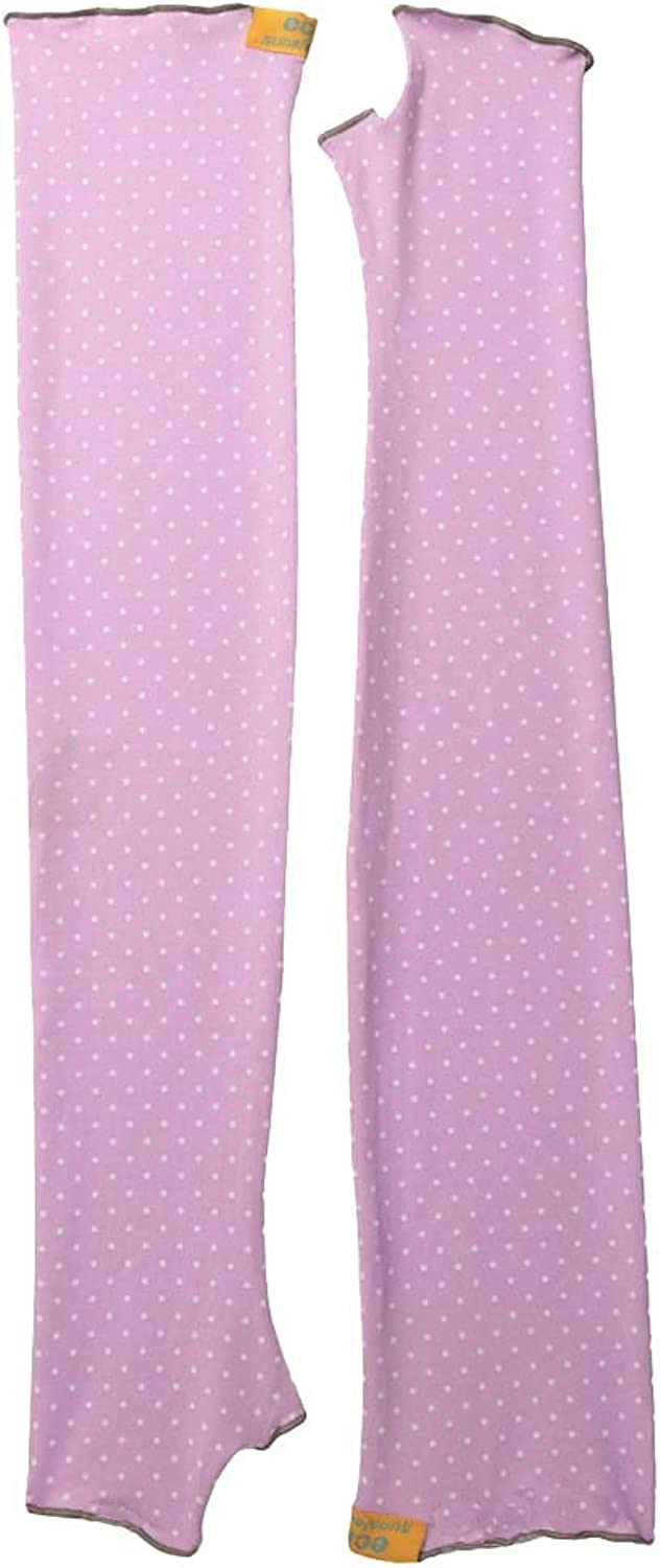 Eclipse Sun Products UPF 50+ Sun Sleeves, Large, Pink White Polka Dot