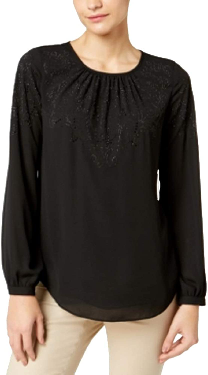 Charter Club Petite Embellished Top