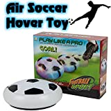 BETTERLINE Air Power Soccer Football Hover Disc Toy with Foam Bumpers and Light-Up LED Lights, Kids Sports Ball Game for Indoor & Outdoor Play, Gift for Children
