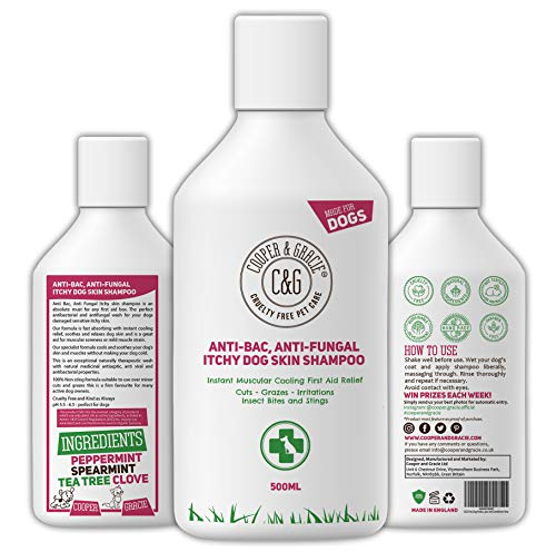 C&G Pets | Dog Shampoo For Itchy Skin Antibacterial And Antifungal | 100%...